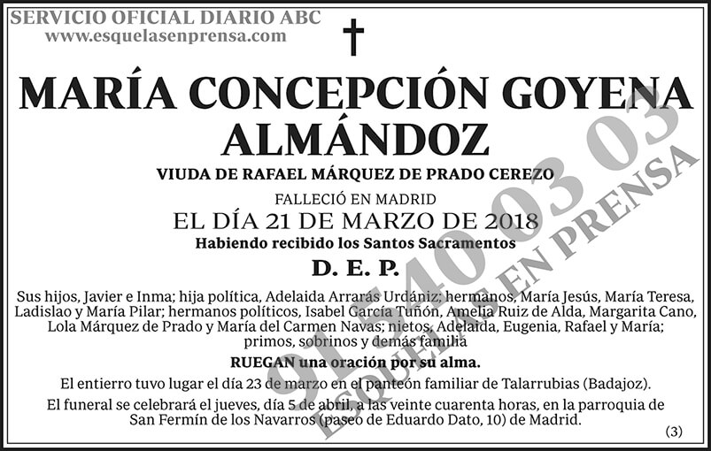 María Concepción Goyena Almándoz